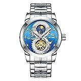 Mirar el Reloj de Manera Intervet Stowe Volante Estrellas Flor Masculina de los Hombres mecánicos automáticos del Reloj (Color : 1)