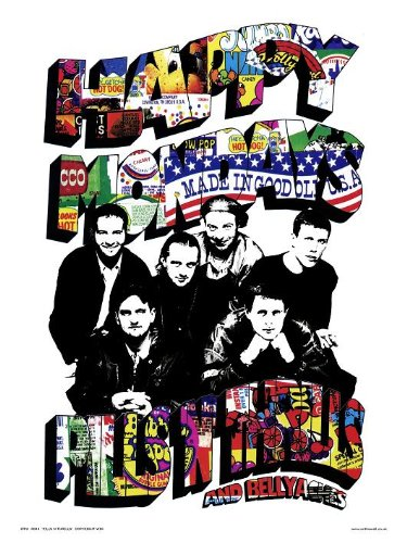 Happy Mondays tabletten N zenuwkitel Pop Art Print Poster van Pruik (otw43)