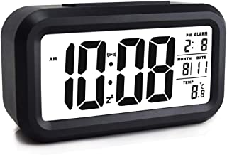Rubik Loud Digital LED Alarm Clock Large Display with Backlight Temperature Date Month Calendar Snooze for Bedrooms Kids A...