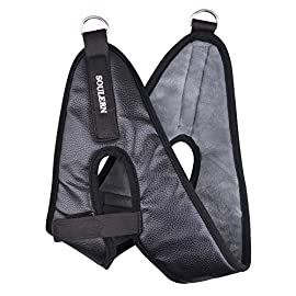 Cervical traction device component head halter replacement for neck pain relief, chin cover for door frame neck traction… 1 cervical traction set - foam padded head halter for home over the door cervical traction set can help you continue your physical therapy exercises in the convenience of your home if you own an over-the-door cervical traction set. Comfortable & adjustable - the chin cover kits is designed with comfortable foam padding, covered with rugged leather on surface and inner skin-friendly swan flannelette. Customized fit - this foam padded head halter comfortably fits most adults because of the hook and the pasted strap adjustment which gives you a customized fit.