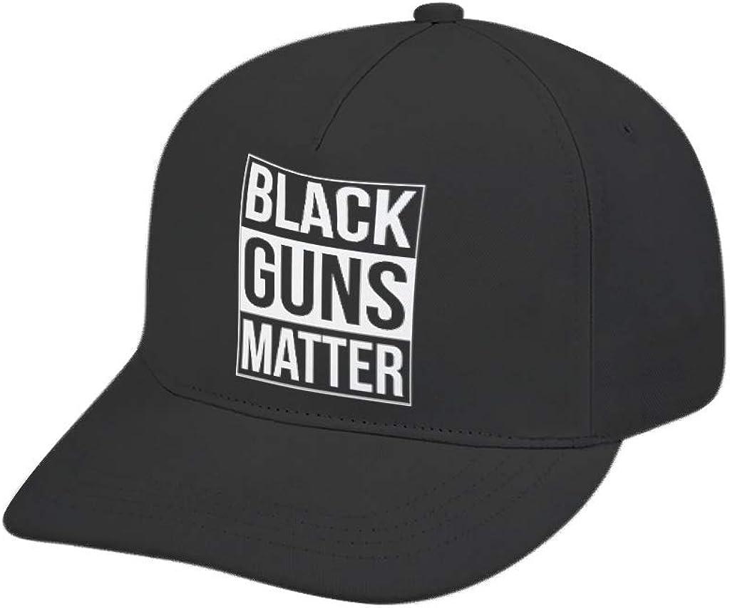 YEZININHAO Black Gun Matter Print Baseball Cap Hat Cooling Trucker Snapback White one Size -