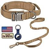 DAGANXI Tactical Dog Collar Leash Set, Adjustable...