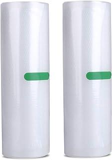 AKZIM 真空ロール フードシーラー 専用ロール 替えロール 20*500cm*2本 真空パック 真空パック機専用ロール PA+PE素材 真空ビニール 真空包装袋 食品保存 低温調理 自由にカット 家庭用 業務用