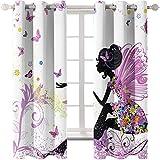 Le Tende Rosa della Ragazza dei Sogni Sono Adatte per Camerette dei Bambini Stanze per Matrimoni Giardini Tende Super Ombreggianti Metodo di Installazione Perforato 61 Pezzi di Farfalla Bianca