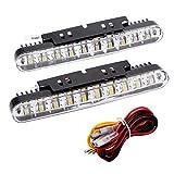 KKmoon 2pcs 30LEDs Voiture Auto Clignotants, Daytime Running DRL Lampe avec Clignotants Feux de Signalisation