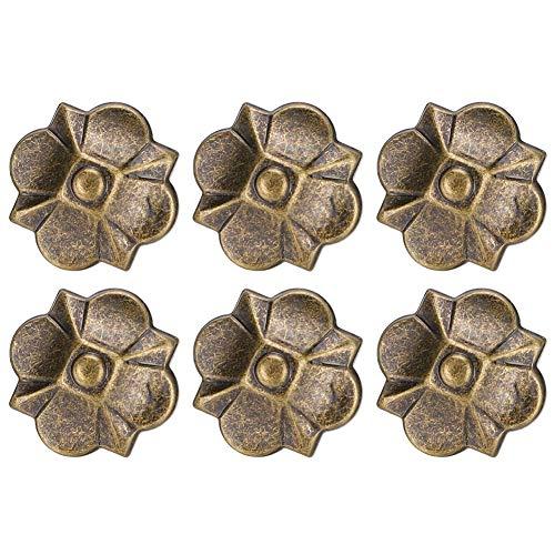 20 piezas Vintage tapicería uñas flores decorativas etiquetas metálicas tapicería chinchetas para tapizar sillas decoración de muebles