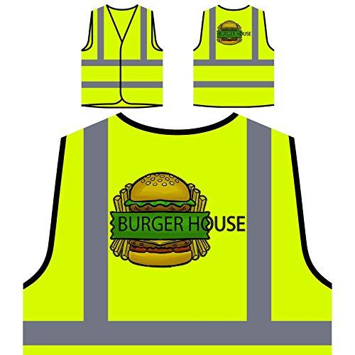 El mejor restaurante de Burger Food House Chaqueta de seguridad amarillo personalizado de alta visibilidad d630v