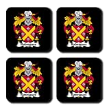 Rodriguez Coat of Arms/Family Crest Coaster Set, by Carpe Diem Designs – Made in the U.S.A.