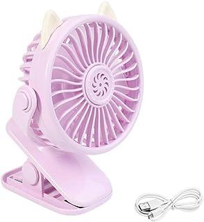 QTCD Mini Ventilador, Ventiladores de sobremesa USB, con un Funcionamiento silencioso Ultra y 3 velocidades, for el pequeño Ventilador eléctrico for el hogar, Dormitorio, Oficina y Escritorio fanghua