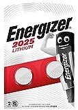 Energizer CR2025 Piles Bouton au Lithium, Lot de 2