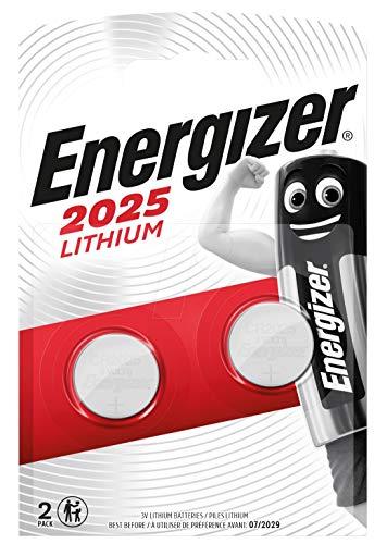 Energizer CR2025 Batterien, Lithium Knopfzelle, 2 Stück