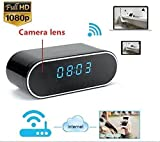 TenSky 1080P HD Reloj Despertador WiFi Red Espía Cámara Mini DV Videocámara Portátil...