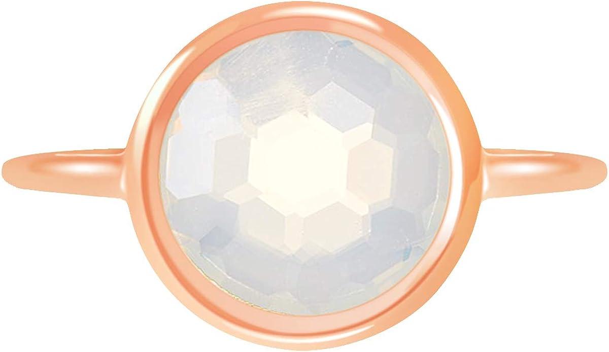 Moonstone 18k Rose Gold Clad Wholesale Gemstone Round Ring