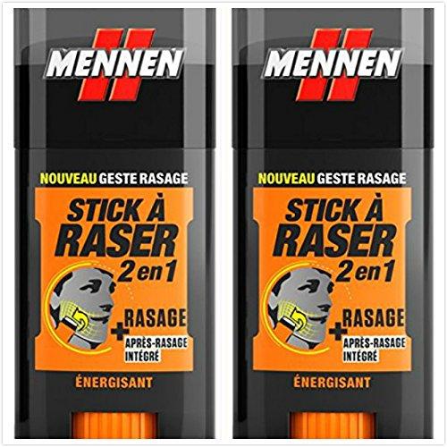 MENNEN - Stick à Raser 2 en 1 Homme - Energisant - 50 ml - lot de 2