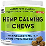 NATURAL AND EFFECTIVE CALMING SUPPORT - Our soft chews are formulated with effective ingredients like valerian and chamomile extracts, and hemp oil to help calm your dog in stressful situations, such as car rides, firework, thunder, etc. They will al...