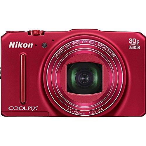 Nikon Coolpix S9700 Digitalkamera (16 Megapixel, 30-Fach optischer Super-Zoom, 7,5 cm (3 Zoll) OLED-Monitor, 5-Achsen-Bildstabilisator (VR), Dynamic Fine Zoom, Full-HD-Videofunktion, Wi-Fi) rot