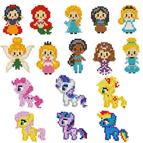 5D Diamand Painting Set,Diamant Malerei Kits für Kinder DIY Prinzessin My Little Pony Tiere Diamant Aufkleber Kit Tiermalerei mit Diamanten für Kinder und Erwachsene Anfänger