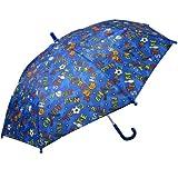 RainStoppers W104CHBLSPOR Boy's Sports Print Umbrella, 34-Inch