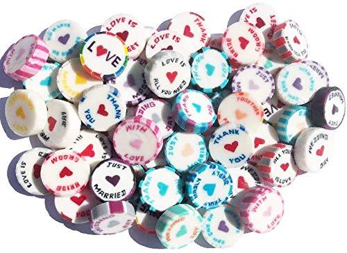 100caramelos roca surtidos de colores para recuerdos de boda, más d