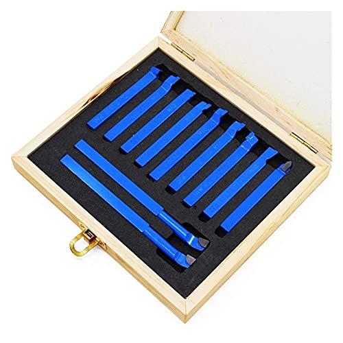 Yanyan MAYALI Juego de herramientas de corte con punta de carburo de corte de soldadura, juego de fresado para herramientas de torno de metal (color azul)