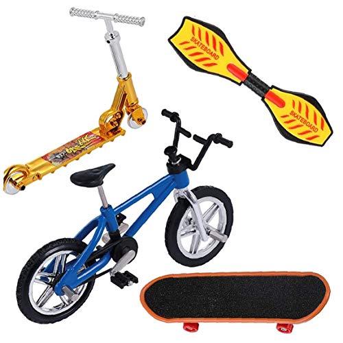 Mini Patinetas Finger, Patinetas Finger Bicicletas Scooter de oscilación Tiny Junta Partido del Movimiento Dedo Set de Accesorios para los Muchachos niños de los niños