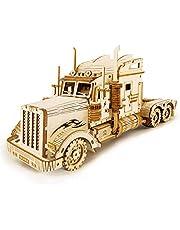 ROKR Bil trä modellkit för vuxna - byggsatser för lastbil - jul födelsedagspresenter för tonåringar och vuxna (tung lastbil)