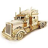ROKR Car Madera Maquetas para Construir - Maquetas para Montar - Set de Construcción Puzzle 3D para niños y Adultos (Heavy Truck)