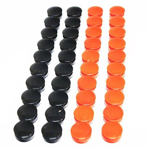 Airsoft Army Force Kunststoffstecker für 40 mm Gasgehäuse, Schwarz/Rot, 40 Stück