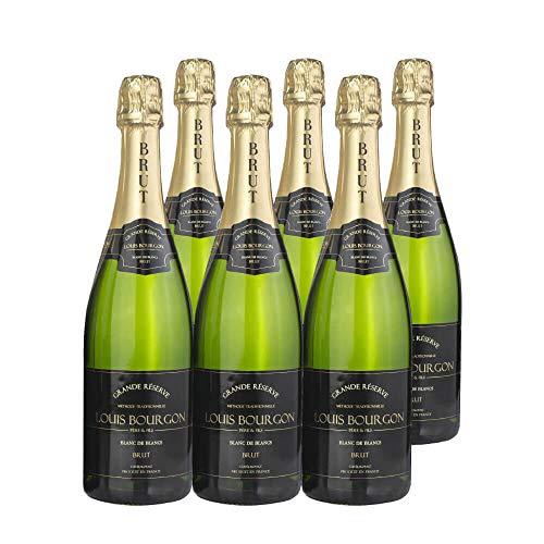 Pack Louis Bourgon Grande Réserve Blanc de Blancs Brut | 6 botellas | 0,75L