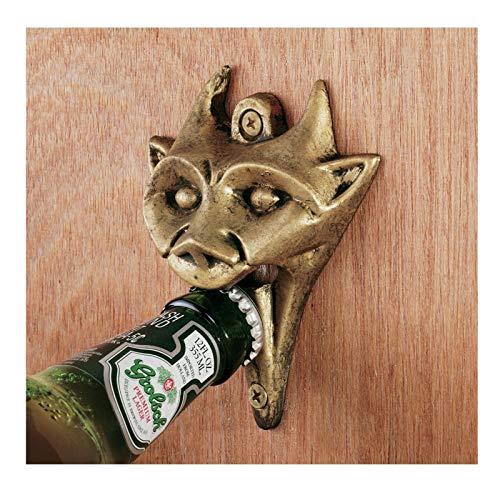 K&N41 Indoor DÃcor Gothic Bottle Opener Medieval Cast Iron Gargoyle Brass Finish Bar & Pub Art Home Decor Sculpture