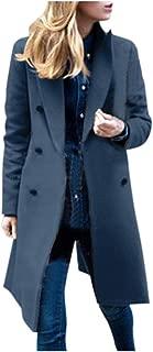 Women Coat Winter Winter Lapel Wool Coat Trench Jacket Long Overcoat Outwear