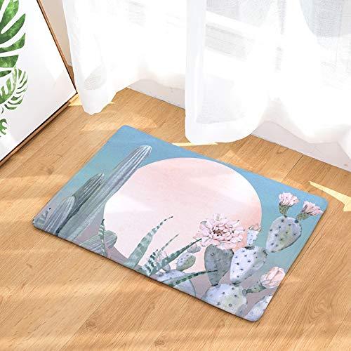 OPLJ Alfombra de Estilo Tropical para el hogar Cactus Kitsch Alfombra Absorbente de gallina Alfombras de baño Antideslizantes Decoración del hogar Alfombra Interior A14 40x60cm