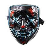 Ledライトアップマスクフェスティバルパーティー、快適なパッド入りフィットは顔の曲線に適合し、目が緊張疲労を引き起こすことはありません、ハロウィーン