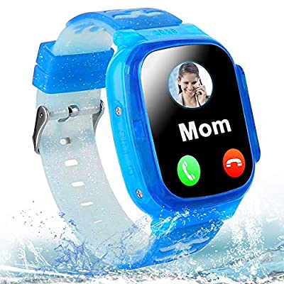 "MiKin Kids Smart Watch Phone for Boys Girls IP67 Waterproof GPS Tracker Smartwatch 2 Way Call Voice Chat Math Game SOS Flashlight Camera 1.44"" HD Touch Screen Wrist Watches Children Birthday Gift from MiKin"