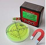 Magnetische Libelle Digitaler Winkelmesser für Neigungsmesser Plus Stärke Winkelmesser Bevel Box, Lieferung erfolgt in einer Geschenkbox. Mit Wasserwaage (im Wert von 15 Euro)!