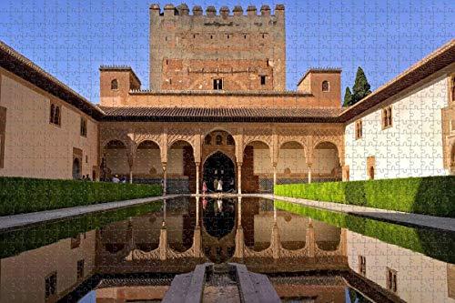 Puzzle para Adultos España Alhambra Granada Puzzle 1000 Piezas Recuerdo de Viaje
