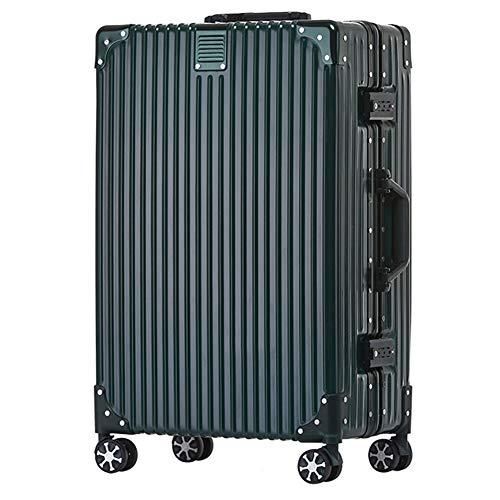 Meters_x Aluminiumrahmen-Trolley, Zeichenbox, Universalrad, Modeschüler-Tasche, Zollverschluss, große Packungsbox (20 Zoll, 24 Zoll, 26 Zoll, 29 Zoll) (Farbe : Grün, größe : 29 inches)