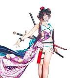 chochoTrain Fate GrandOrder 葛飾北斎 水着 フルセット ウィッグ付き フェイト FGO コスプレ衣装 Fate ドレス 日常 ワンピース cos cosplay コスチューム
