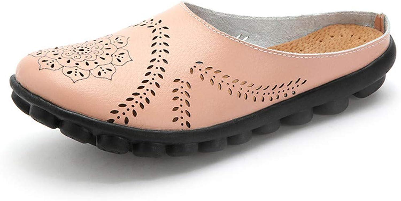 Julitia New Cut-Outs Summer shoes Woman Genuine Leather Women Flats Hollow Women's Beige 4 M US