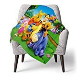 IUBBKI Personalized Kids Fleece Blanket Custom,Winnie The Pooh (15),Super Soft Baby Throw Blanket for Crib Bed Couch Chair Living Room