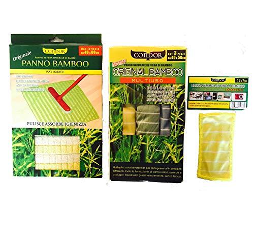 Condor Set Panni in Bamboo: Panni in Bamboo + Panno Pavimenti + MINIPANNO, Marazziweb.Com SAS