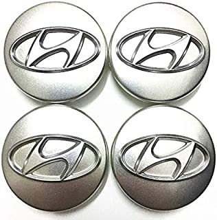 4pcs 60mm Silver Chrome Wheel Center Hub Caps for Hyundai Sonata Azera Santa Fe Sonata Tucson IX35 IX45