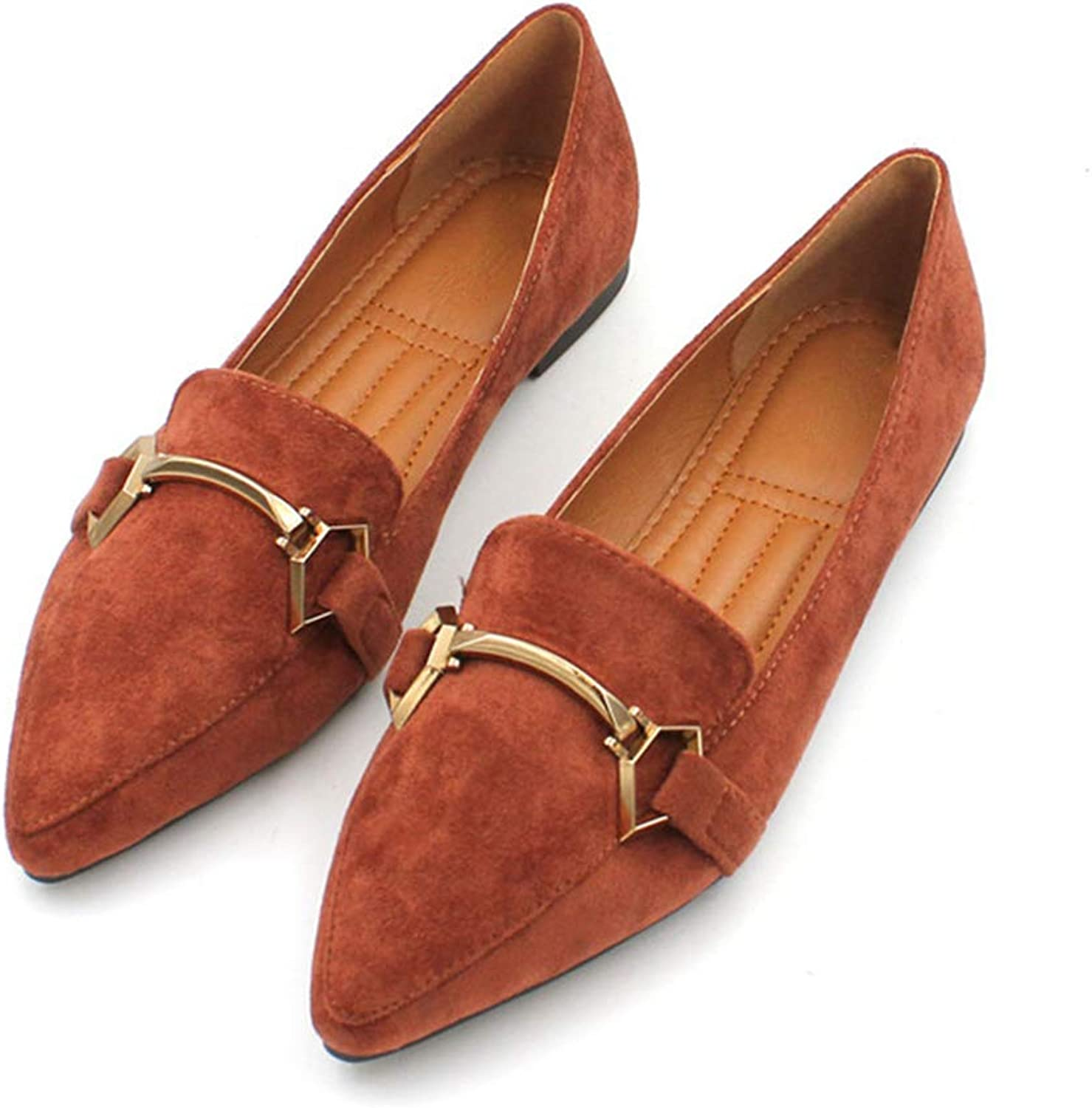 Kyle Walsh Pa Women Classic Flats shoes Pointed Toe Slip-on Female Casual Soft Working Driving Moccasins