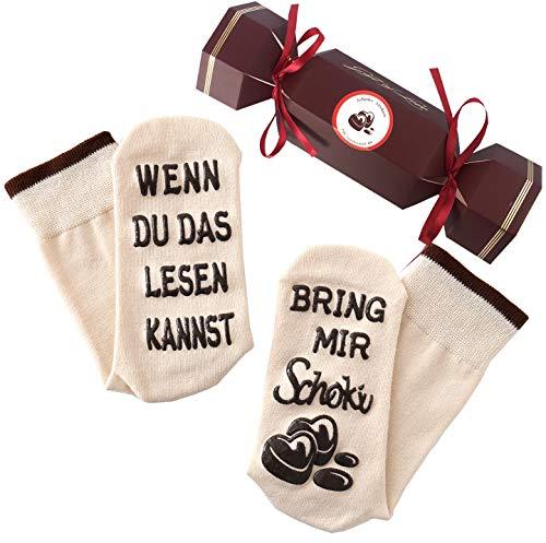 Schokolade-Socken mit Spruch