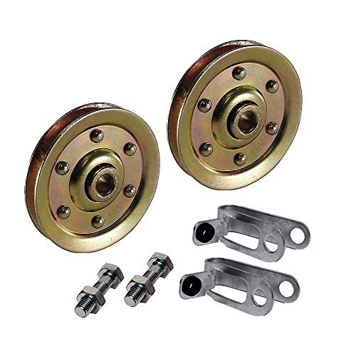 Best Buy! 3 Inch Garage Door Pulley Kit with Safety Cable Guide 200lb Load