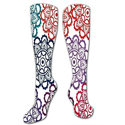 Hardlopen Sokken Voor Mannen Vrouwen Olie Schilderen Paarse Ui Bloem Abstract In Soft Co