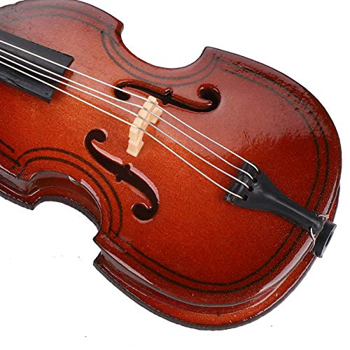 Faceuer Mini-Bass-Modell, Holzminiatur-Bass Mini-Musikinstrument Dekoration für Schlafzimmer-Studie