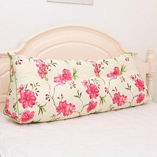 MMM- Coussin triangulaire de coussin de lit de chevet de coussin de taille de lit de grande taille lavable (Couleur : #2, taille : 120 * 20 * 50cm(3 buckles))