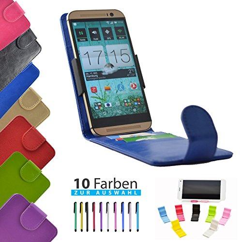 4 in 1 set ikracase Slide Flip Hülle für HiSense HS-U970E-8 Smartphone Tasche Case Cover Schutzhülle Smartphone Etui in Blau