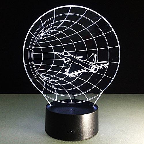 Visuelle Illusion-Lampe der Zeitmaschinen-3d transparentes Acrylnachtlicht führte Farbwechsel-Notentabelle Bulbing Lambas